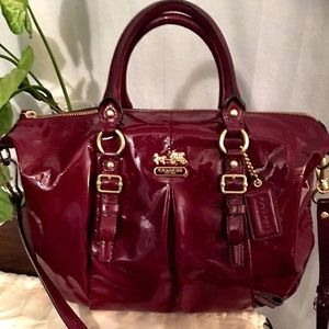 Coach Red Patent Leather Bag - like new